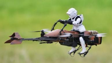 Vídeo: helicóptero a radiocontrol hecho moto de 'Star Wars'