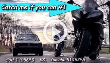 Un Golf de 1.000 CV contra una Yamaha R1, ¿quién ganará?