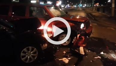 Vídeo: capta en directo el accidente de un conductor ebrio