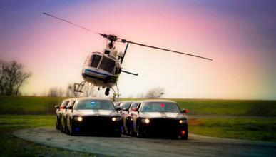 ¿Tiene la Policía de California un equipo de 'acrobacia'?