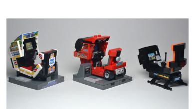 ¿Una maquina de videojuegos con volante Lego? Sí