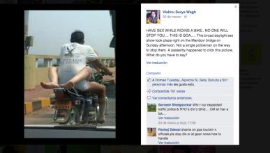 Detenido por practicar sexo sobre una moto y aparecer en FB
