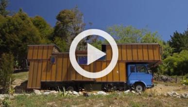Transforman su vieja camioneta en una espectacular vivienda