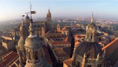 Salamanca grabada con drones