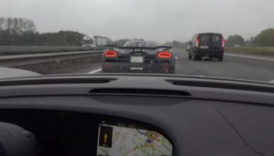Pique en la autobahn: 918 Spyder y Agera R a 350 km/h