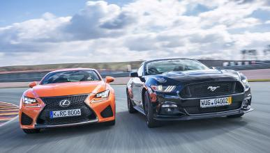 Duelo explosivo: Ford Mustang GT contra Lexus RC F