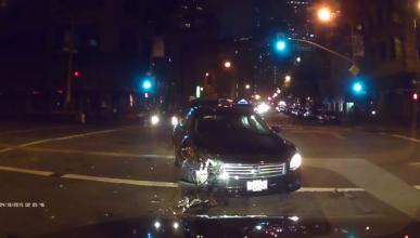 Vídeo: graba un accidente y cómo se dan a la fuga