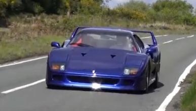 Así suena el único Ferrari F40 azul eléctrico del planeta