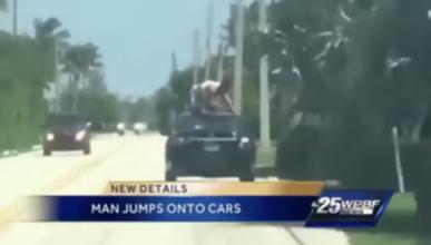 Vídeo: un hombre surfea sobre un coche en marcha