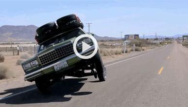 Haciendo off road con un low rider en Las Vegas