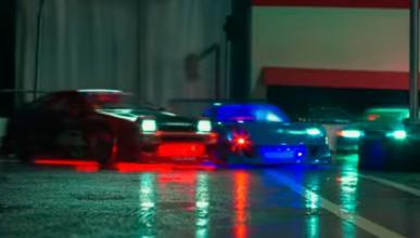 Drift con cuatro RC Cars a escala: ¡espectáculo de color!