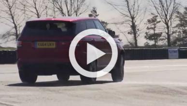 Así 'baila' sobre el asfalto el Range Rover Sport SVR