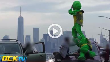 Se disfrazan de Tortugas Ninja y cortan el tráfico de NYC