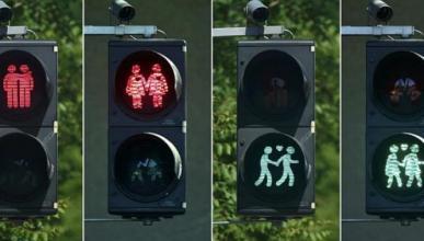 Los nuevos semáforos 'gayfriendly' de Viena
