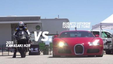 Bugatti Veyron vs. Kawasaki Ninja H2R: ¿quién vencerá?