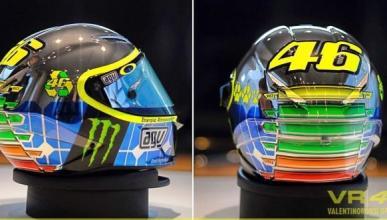 El casco de Valentino Rossi en Mugello 2015