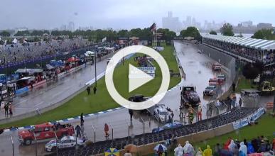 Un Aston Martin GT3 choca contra el 'safety truck'
