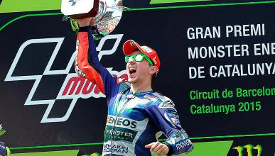 Jorge Lorenzo en GP Cataluña 2015 podium