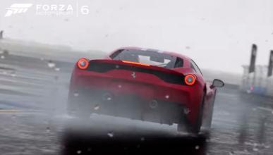 Pista con lluvia en Forza 6