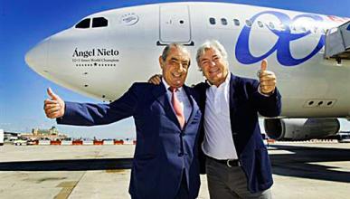 "Airbus 330 ""Angel Nieto"": homenaje al campéon"