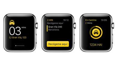 Ya puedes pedir taxis en España desde el Apple Watch