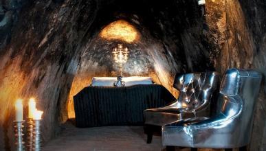 Interior de una de las habitaciones de la mina Silvergruve