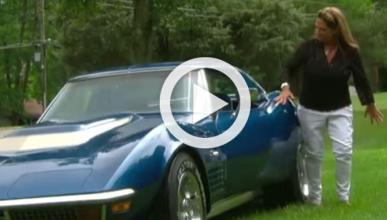 Esta mujer recupera su Corvette robado hace 43 años