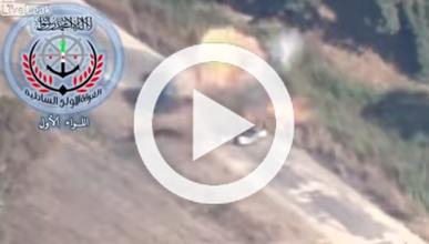Un misil impacta contra un coche y el conductor sale ileso