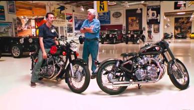 La Royal Enfield Musket indioamericana, con Jay Leno.