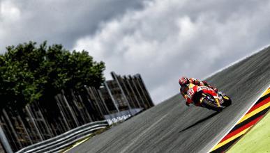 Libres MotoGP GP de Alemania 2015: Márquez asusta
