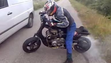 Vídeo: Burnout con una Vespa de 650 cc