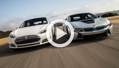 Drag Race electrizante: BMW i8 contra Tesla Model S P85D