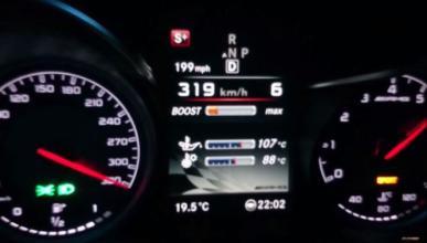 El Mercedes C63 AMG de Renntech a 320 km/h