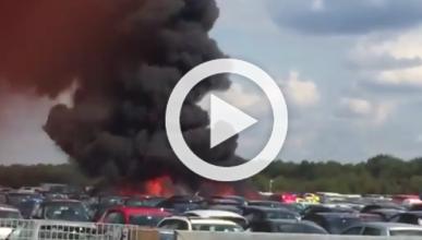 La familia de Bin Laden se estrella en un almacén de coches