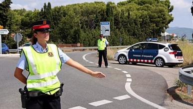 Primeras multas para matrículas de Países Catalanes