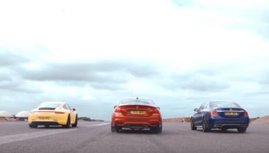 Drag Race de 'Launch Control': M4, C63 AMG y 911, vs. Polo