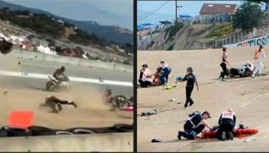 El accidente de Laguna Seca debió quedarse en lesión leve
