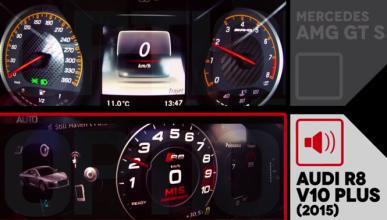 'Drag Race': Audi R8 V10 plus contra Mercedes-AMG GT S