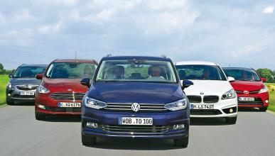 Comparativa: Nuevo Volkswagen Touran contra sus rivales.
