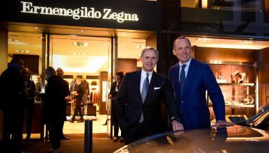 Zegna y Maserati fiesta en Frankfurt