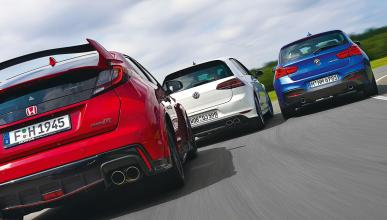 Comparativa BMW M135i/Honda Civic Type R/Volkswagen Golf R