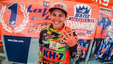 Laia Sanz logra su cuarto mundial de enduro consecutivo