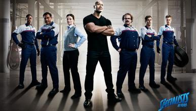Dwayne 'La Roca' Johnson, nuevo 'mécanico' de Ford