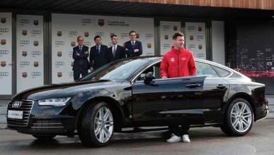 Messi entrega coches Audi 2017