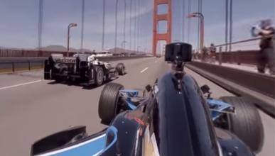 Pasea con un Indycar por el Golden Gate con este vídeo 360º