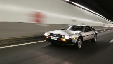 Prueba-DeLorean-DMC-12-acción-túnel-delantera