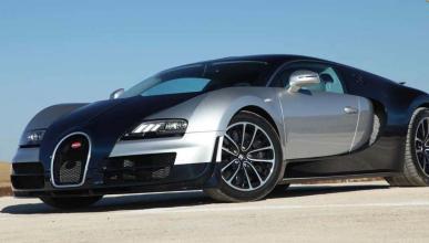 A la venta un Bugatti Veyron azul y plata de 2008