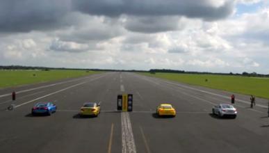 Cayman GT4, M4, i8 y RC F en un circuito al límite