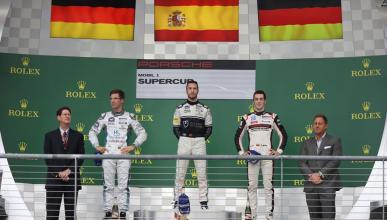 Álex Riberas gana por primera vez en la Porsche Supercup