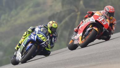 La prensa italiana critica a Rossi por tirar a Márquez